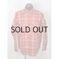 """NEW OLD STOCK! 70'S """"5 BROTHER""""VINTAGE FLANNEL SHIRTS/ SIZE:15"""